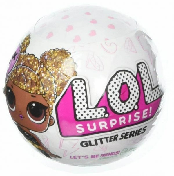 1 Ball L.O.L. Surprise! Glitter Series 1 Dolls Encrusted In Glitter