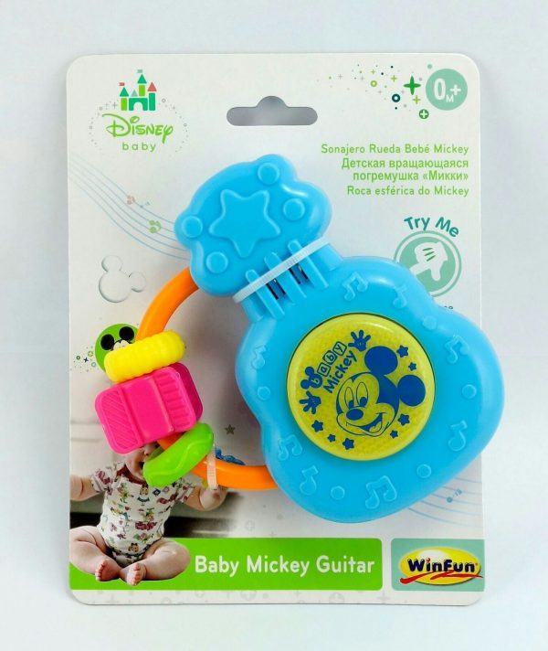 DISNEY Baby Mickey Mouse guitar musical Instrument Sound Effect Creativity Toy