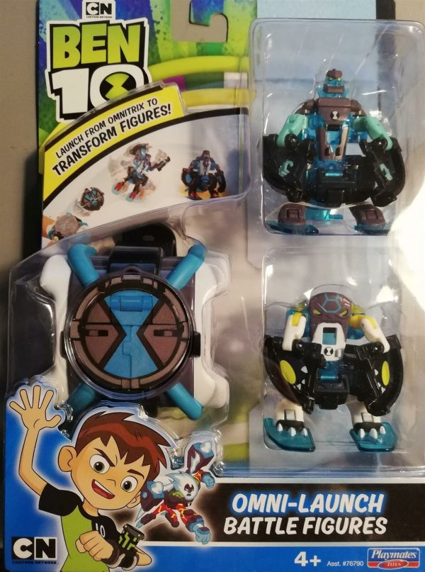 Ben10 Omni Launch Battle Figures Cannonbolt & Diamonhead Toy Gift Boys Watch
