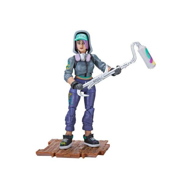 """Fortnite Teknique Solo Mode 4"""" Figure Pack By Jazwares Collectible Toy +8"""