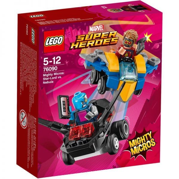 LEGO Marvel 76090 Super Heroes Mighty Micros: Star-Lord Vs. Nebula 86 Pieces 5+