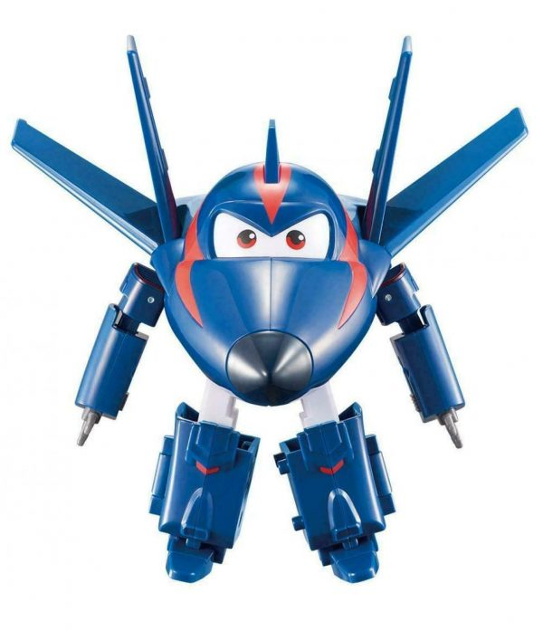 """Super Wings Mini Agent Chace Transform-a-Bots Toy Kids 5cm/2"""" +3 years"""