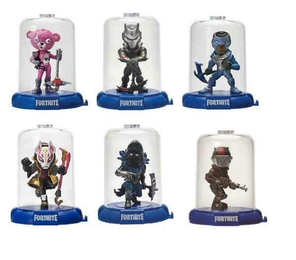 "6 Packs Fortnite Domez Figure Enclosed Display Case Collection 3"" Series 1"