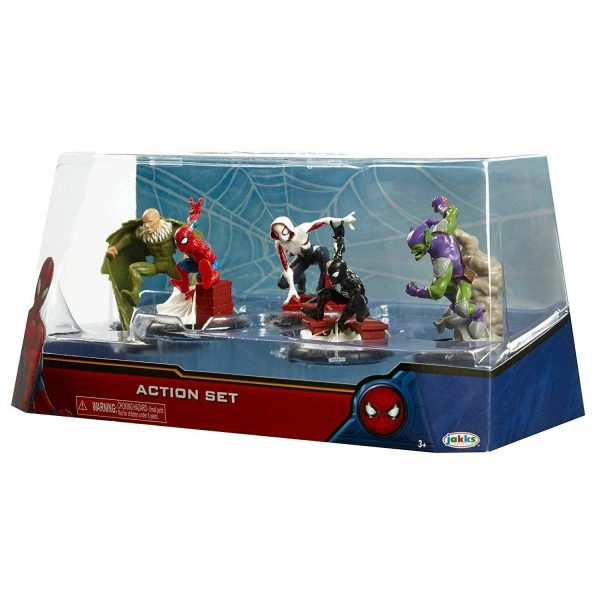 Marvel Spiderman Action Set 5 Figures Collection by Jakks Pacific +3 Years