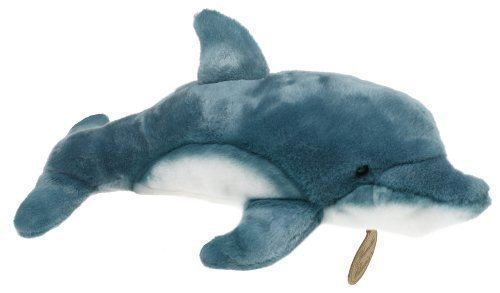 """Rare Yomiko Classic Blue Dolphin 14"""" by Stuffed Animal Russ Berrie"""
