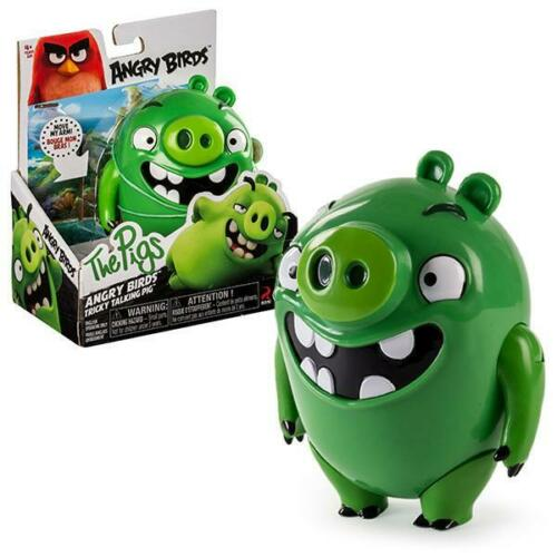 Angry Birds Tricky Talking Pig Green Figure Collection By Spin Master 5.5""
